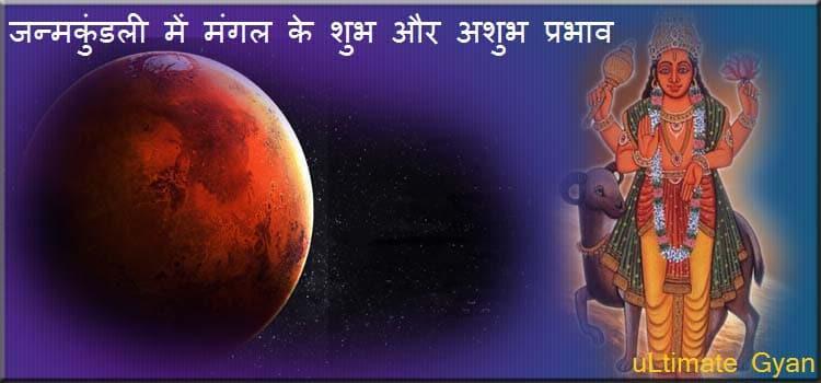 Kundali me Mangal Shubh or Ashubh