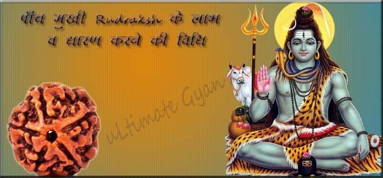 5 Mukhi Rudraksh ke Labh