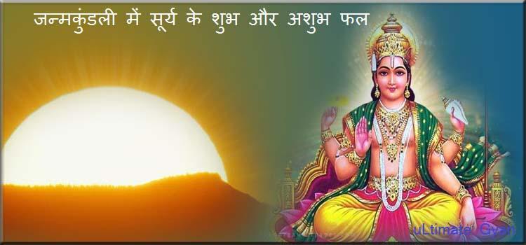 janmkundali me surya ke shubh or ashubh prabhav
